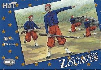 1/72 American Civil War Union Zouaves (48) - HAT-8004