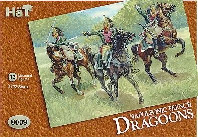 1/72 Napoleonic French Dragoons (12 Mtd) - HAT-8009
