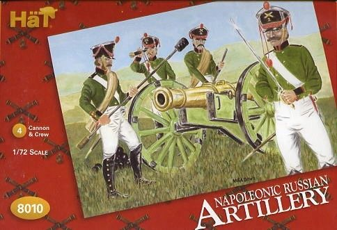 1/72 Napoleonic Russian Artillery (4 Sets) - HAT-8010