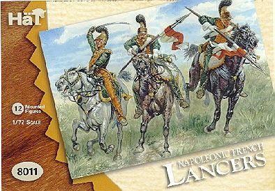 1/72 Napoleonic French Lancers (12 Mtd) - HAT-8011