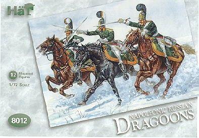 1/72 Napoleonic Russian Dragoons (12 Mtd) - HAT-8012