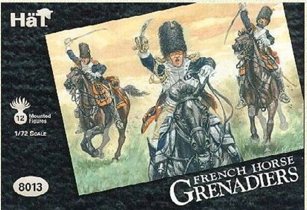 1/72 Napoleonic French Horse Grenadiers (12 Mtd) - HAT-8013