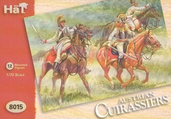 1/72 Napoleonic Austrian Cuirassiers & Horses (24) - HAT-8015