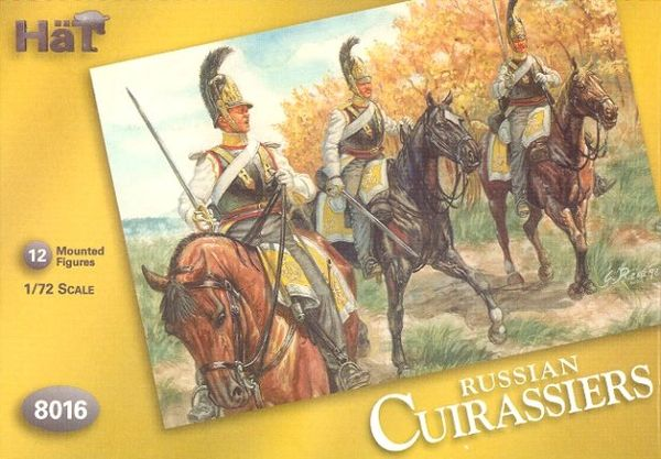 1/72 Napoleonic Russian Cuirassiers & Horses (24) - HAT-8016