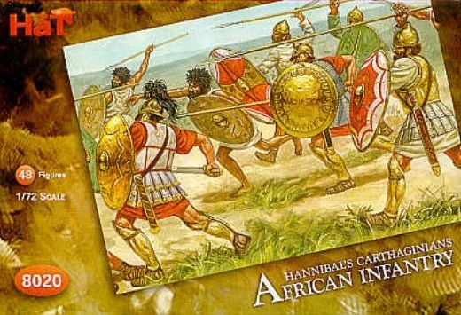 1/72 Carthaginians African Infantry (48) - HAT-8020