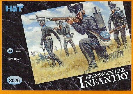 1/72 Napoleonic Brunswick Leib Infantry (48) - HAT-8026