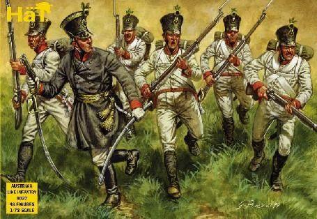 1/72 Napoleonic Austrian Line Infantry (48) - HAT-8027