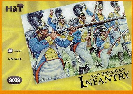 1/72 Napoleonic Bavarian Infantry (48) - HAT-8028