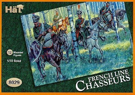 1/72 Napoleonic French Line Chasserus (12 Mtd) - HAT-8029