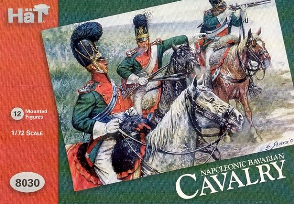 1/72 Napoleonic Bavarian Cavalry (12 Mtd) - HAT-8030