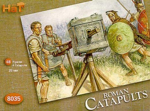 1/72 Roman Catapults (4 w/48 Figures) - HAT-8035