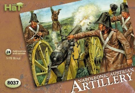 1/72 Napoleonic Austrian Artillery (24, 4 Guns) - HAT-8037