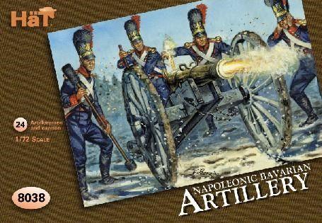 1/72 Napoleonic Bavarian Artillery (24) - HAT-8038