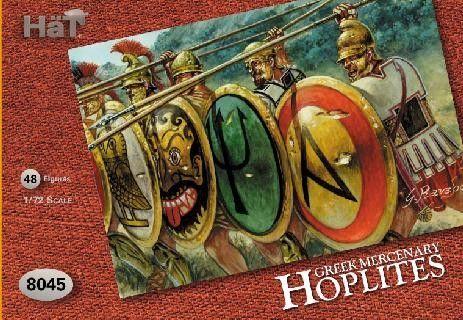 1/72 Greek Mercenary Hoplites (48) - HAT-8045