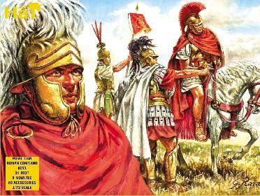 1/72 Punic War Roman Command (24 Foot, 8 Mtd) - HAT-8051