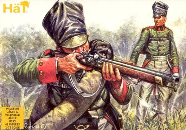 1/72 Prussian Jager & Volunteer (48) - HAT-8053