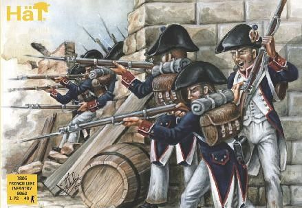 1/72 1805 French Line Infantry (48) - HAT-8062