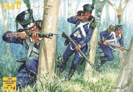 1/72 1805 French Light Infantry (48) - HAT-8063