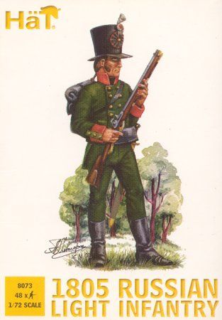 1/72 1805 Russian Light Infantry (48) - HAT-8073