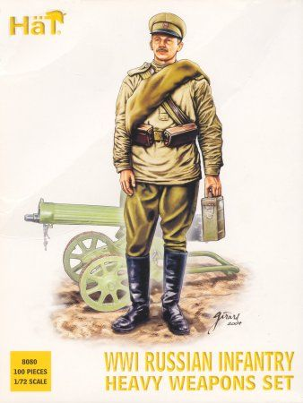 1/72 WWI Russian Infantry Heavy Weapons Set (100) (D) - HAT-8080