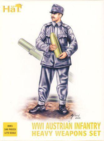 1/72 WWI Austrian Infantry Heavy Weapons Set (100) (D) - HAT-8081