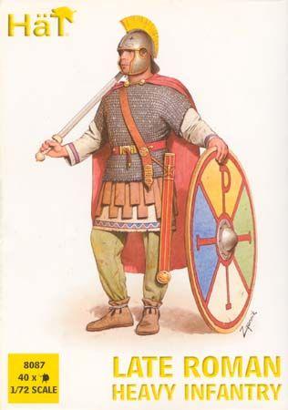 1/72 Late 4th Century Roman Heavy Infantry (40) - HAT-8087