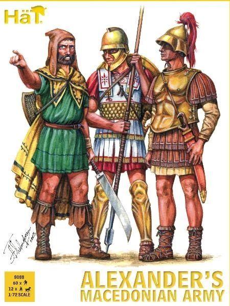 1/72 Alexander's Macedonian Army (12 Mtd, 60 Foot) - HAT-8088