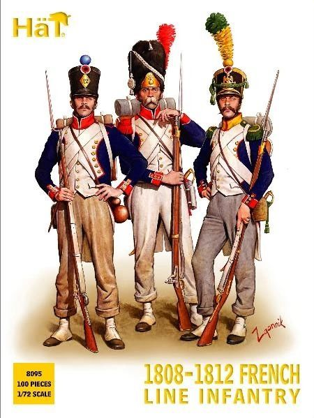 1/72 1808-1812 Napoleonic French Infantry (100) - HAT-8095