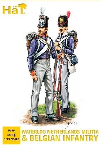 1/72 Waterloo Netherlands Militia & Belgian Infantry (48) - HAT-8096