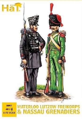 1/72 Waterloo Lutzow Freikorps & Nassau Grenadiers (48) - HAT-8097