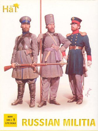 1/72 Napoleonic Russian Militia (100) - HAT-8099