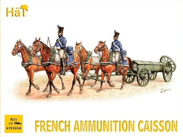 1/72 French Ammo Caisson (3 Sets) - HAT-8101