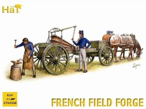 1/72 Napoleonic French Horse Drawn Field Forge Wagon (w/2 Figures) - HAT-8107
