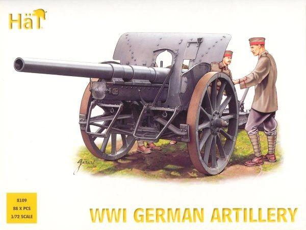 1/72 WWI German Artillery (48 w/4 Cannons) - HAT-8109