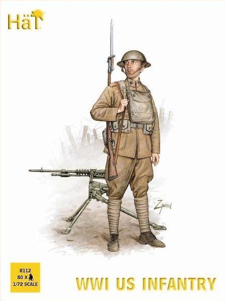 1/72 WWI US Infantry (80) - HAT-8112