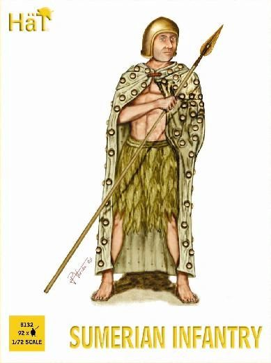 1/72 Sumerian Infantry (92) - HAT-8132