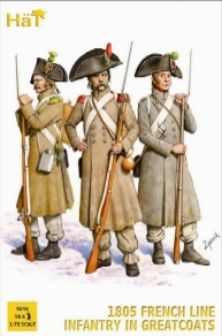 1/72 1805 French Line Infantry in Great Coats (96) - HAT-8146