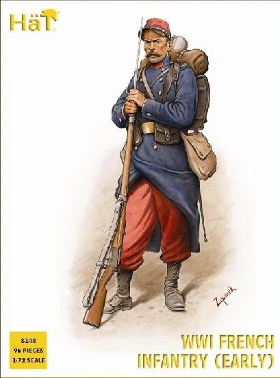 1/72 WWI French Infantry (Early) (96) - HAT-8148