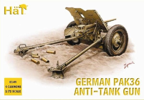 1/72 German PaK 36 Anti-Tank Gun (4) - HAT-8149