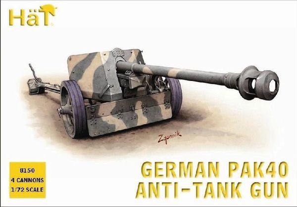 1/72 German PaK 40 Anti-Tank Gun (4) - HAT-8150