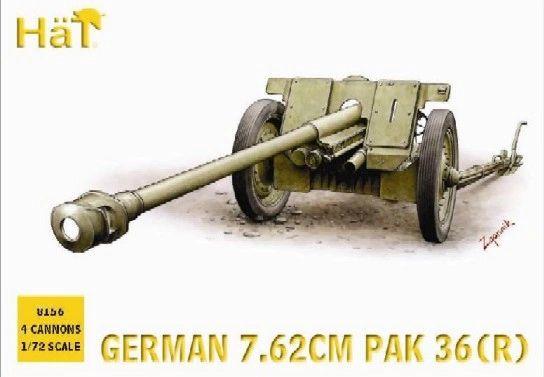 1/72 German 7.62cm PaK 36(R) Gun (4) - HAT-8156