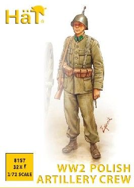 1/72 WWII Polish Artillery Crew (32) - HAT-8157