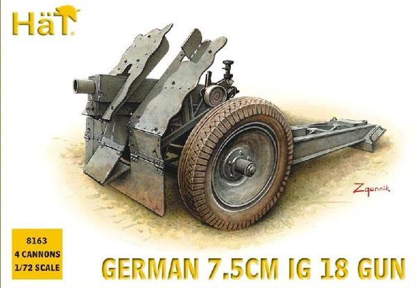 1/72 German 7.5cm IG18 Gun (4) - HAT-8163