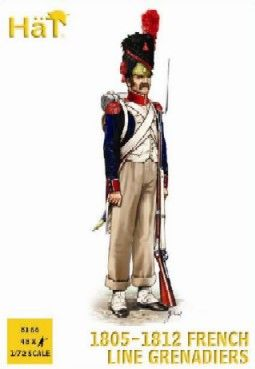 1/72 French Line Grenadiers 1805-1812 (48) - HAT-8166