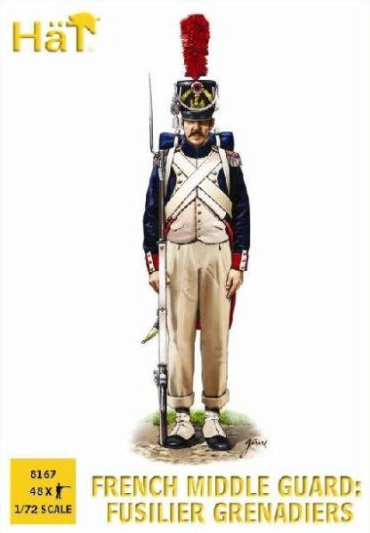 1/72 French Middle Guard Fusilier Grenadiers (48) - HAT-8167