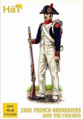 1/72 1805 French Grenadiers & Voltigeurs (48) - HAT-8171