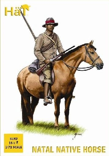 1/72 Natal Native Horsemen (12 Mtd, 6 Foot) - HAT-8182