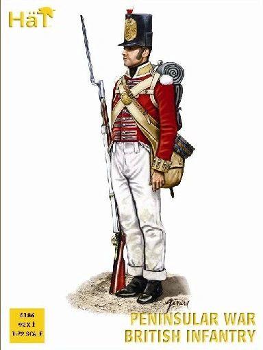 1/72 Napoleonic Peninsular War British Infantry (92) - HAT-8186