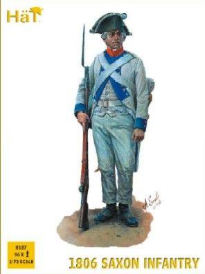 1/72 Napoleonic 1806 Saxon Infantry (96) - HAT-8187