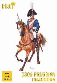 1/72 Prussian Dragoons 1806 (12 Mtd) - HAT-8196